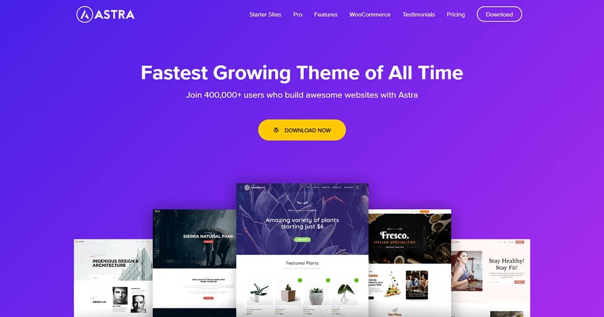 Best WordPress Theme - WP Astra