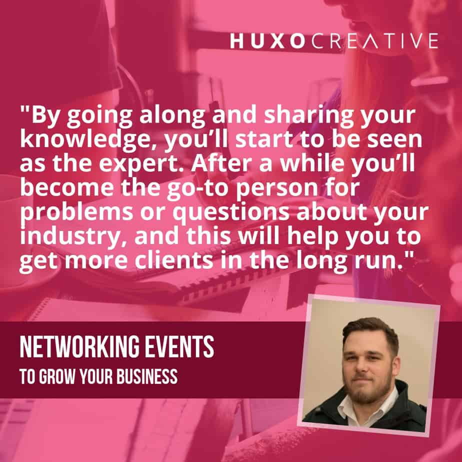 Become the local expert with local networking events