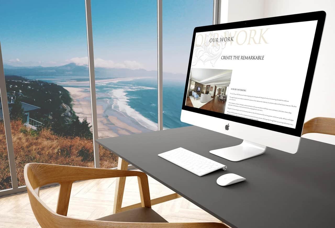 Luxury Furniture Web Design Birmingham   NEJ Stevenson Rugby Web Design and Digital Marketing